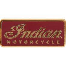 INDIAN Logo Pin eckig rot