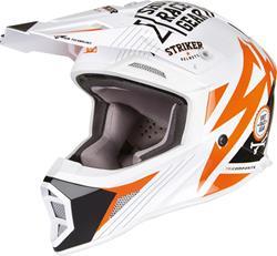 SHOT STRIKER TITAN Helm orange/weiss/sw. L