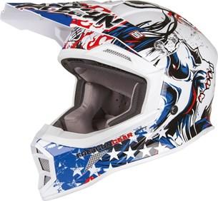 Bild von SHOT FREEGUN MX-605 US Helm weiss/blau/rot S