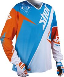 SHOT FLEXOR MAROON Jersey blau/orange/weiss XL