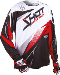 SHOT CONTACT MAGNETIC Jersey sw./rot/weiss XL