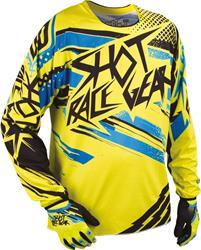 SHOT CONTACT RAID Jersey gelb/blau/sw. XL