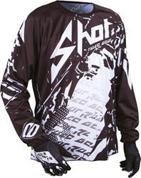 SHOT DEVO LOAD Jersey schwarz/weiss XL