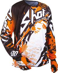 SHOT DEVO LOAD KID Jersey orange/sw./weiss 8/9 Jahre