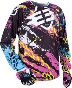 Bild von SHOT FREEGUN CONTACT BEAST Jersey violet/sw./blau/gelb L