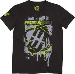 SHOT FREEGUN SQUARE T-Shirt sw./grau/grün L