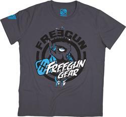 SHOT FREEGUN TETRA T-Shirt grau/blau/sw. L