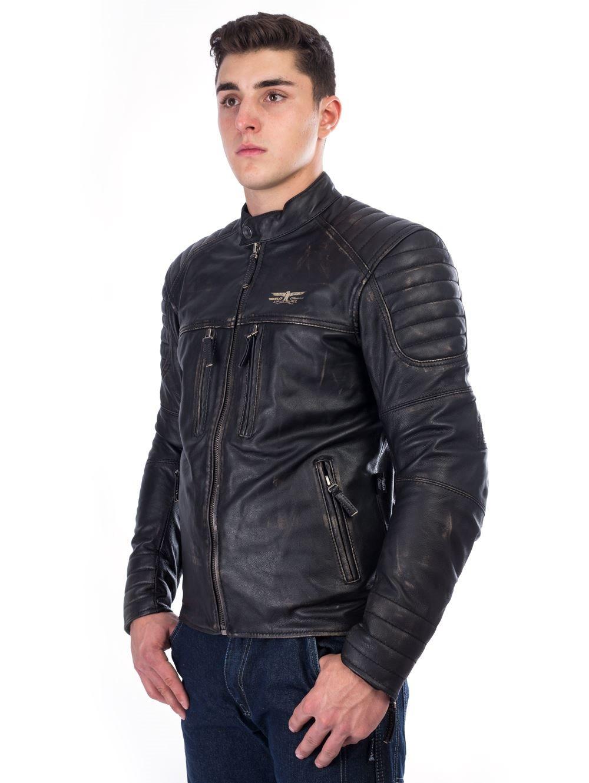RUSTY PISTONS LIVONIA Damenlederjacke schwarz XL um 279,00