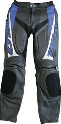 BELO STRADA Lederhose schwarz/blau 54