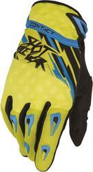 SHOT CONTACT RAID Handschuh gelb/blau/sw. 10