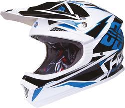 SHOT FURIOUS KID FUSION Helm mit DD sw./blau/weiss M 50cm