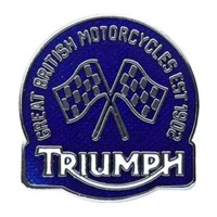 GENUINE TRIUMPH OEM EST 1902 PIN BADGE