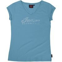 Bild von INDIAN LADY T-Shirt blau Logo Crew