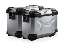 TRAX ADV Alukoffer-System. Silbern. 45/37 l. XRV750 Africa Twin (92-03).