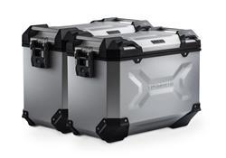 TRAX ADV Alukoffer-System. Silbern. 45/45 l. Honda NC700 S/X, NC750 S/X.