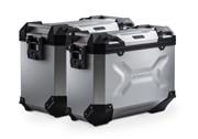 TRAX ADV Alukoffer-System. Silbern. 45/37 l. Suzuki DL 650 V-Strom (04-10).