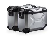 TRAX ADV Alukoffer-System. Silbern. 37/37 l. Kawasaki Versys 1000 (15-).