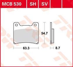 Bremsbelag TRW Lucas MCB 530 SH