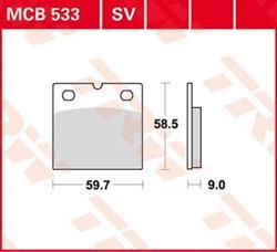 Bremsbelag TRW Lucas MCB 533
