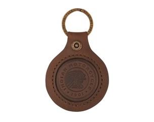 Bild von INDIAN Schlüsselanhänger Icon braunes Leder