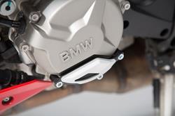 Motorgehäusedeckel-Schutz. Schwarz/Silbern. BMW S1000R / RR / XR.