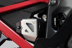 Bremsflüssigkeitsbehälter-Schutz. Silbern. Suz DL1000 V-Strom (14-)/Honda CRF1000L.