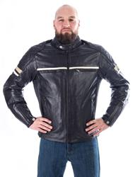 IXON MOTORS Lederjacke braun S