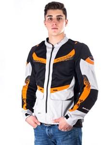 Bild von MACNA FRUIO Textiljacke h.grau/schwarz/orange M