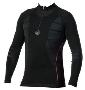 Bild von MOTO ONE CARBON ENERGIZED ZIP-langarm Shirt schwarz XXL/3XL