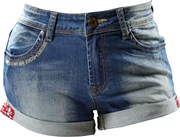 RUSTY PISTONS ERA Damen Hot Pant blau 26