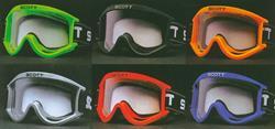 SCOTT Modell 89 Brille weiss mit blauem Band