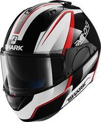 SHARK EVO-ONE ASTOR Klapphelm schwarz/weiss/rot XS