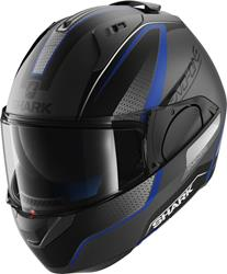 SHARK EVO-ONE ASTOR MAT Klapphelm matt silber/sw.blau XL