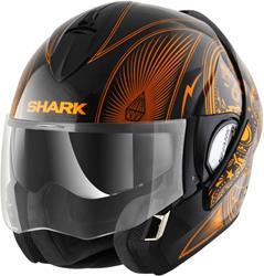 SHARK EVOLINE SERIE 3 MEZCAL CHROME schwarz/chrom orange M