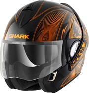 SHARK EVOLINE SERIE 3 MEZCAL CHROME schwarz/chrom orange XS