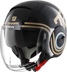 SHARK NANO 72 Jethelm schwarz/gold S
