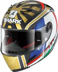 SHARK RACE-R PRO CARBON ZARCO REPLICA weiss/rot/blau/gold S