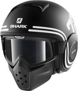 Bild von SHARK RAW 72 matt schwarz/weiss XL