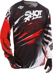 SHOT DEVO CAPTURE Jersey schwarz/rot L