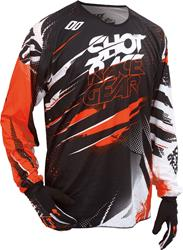 SHOT DEVO CAPTURE KID Jersey schwarz/orange 6/7 Jahre