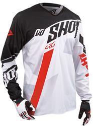 SHOT FLEXOR SYSTEM Jersey weiss/rot/schwarz M