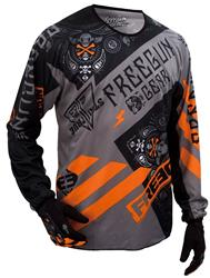 SHOT FREEGUN DEVO BANDANA Jersey grau/orange S