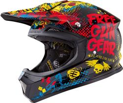 SHOT FREEGUN XP-4 IRON KID Helm gelb/blau/schw. M