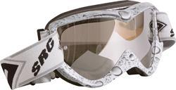 SHOT RACE BUBBLE Brille weiss/grau mit verspieg. Glas