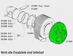 Zylinderkopf Polini Vespa PX125