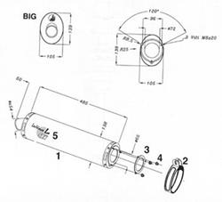 LeoV Titan oval ZX-6R-`97