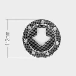 Tankverschlußabdeckung Carbon Kawasaki