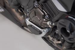 Motorgehäusedeckel-Schutz. Schwarz/Silbern. Yamaha MT-10 (16-).