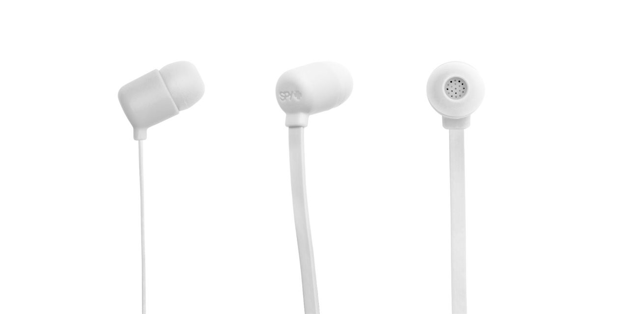 The Buzz Earbuds white