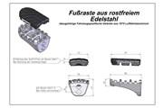 ION Fußrasten-Kit. Honda XRV 650/750 (87-03) XL600V (87-99) CRF1000L.